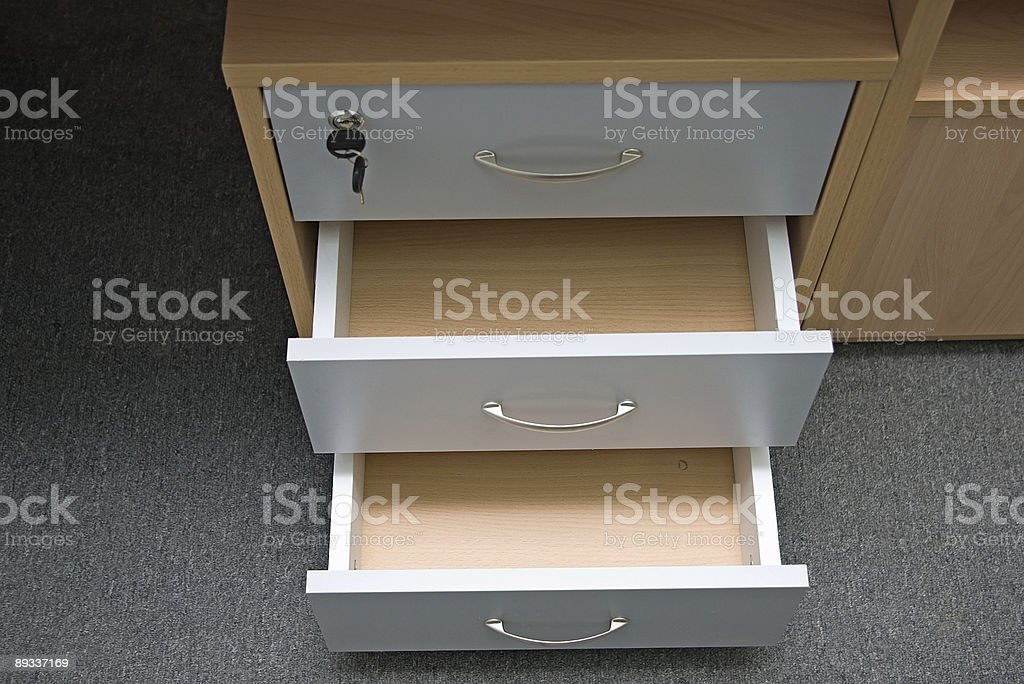 Part of office desk royalty-free stock photo