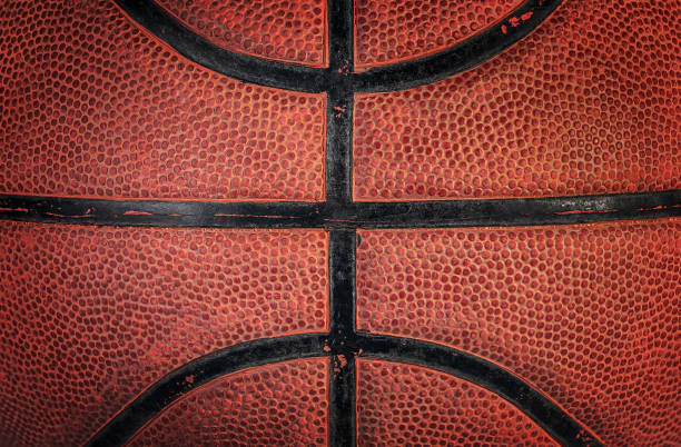 Part of old ball rotated Abstract background is a part of old basketball ball rotated basketball ball stock pictures, royalty-free photos & images