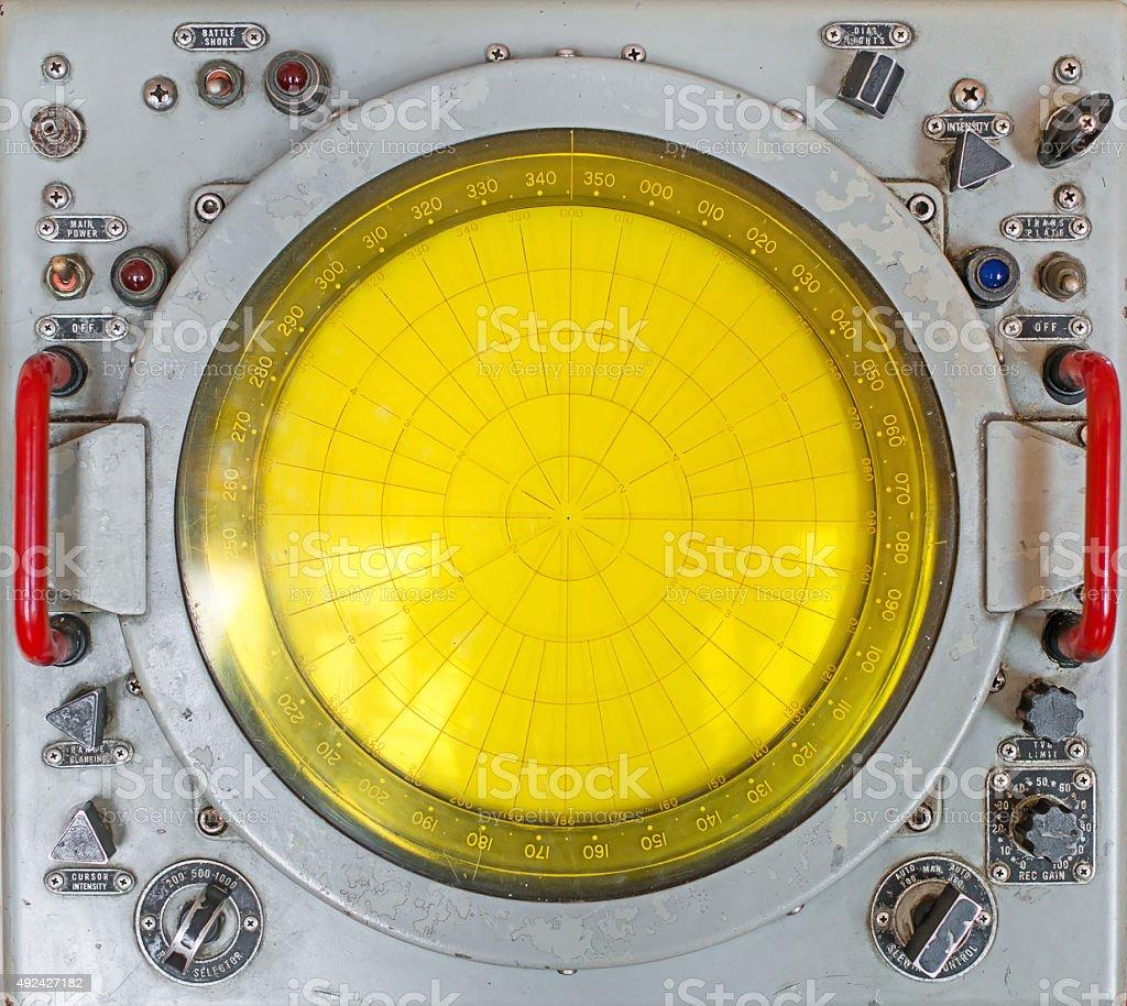 Part of old round radar station. stock photo