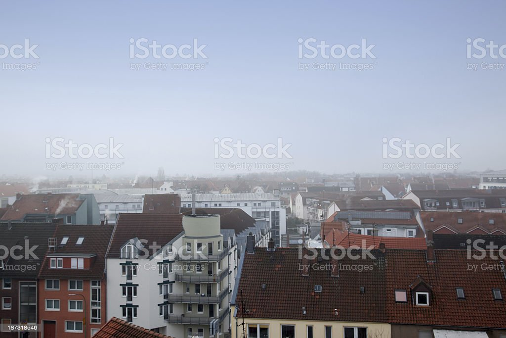 Part of Osnabrueck from above royalty-free stock photo