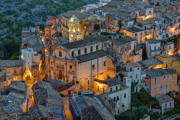Part of Ragusa Ibla at night – Foto