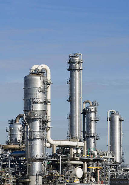 Teil der Raffinerie-Anlage – Foto