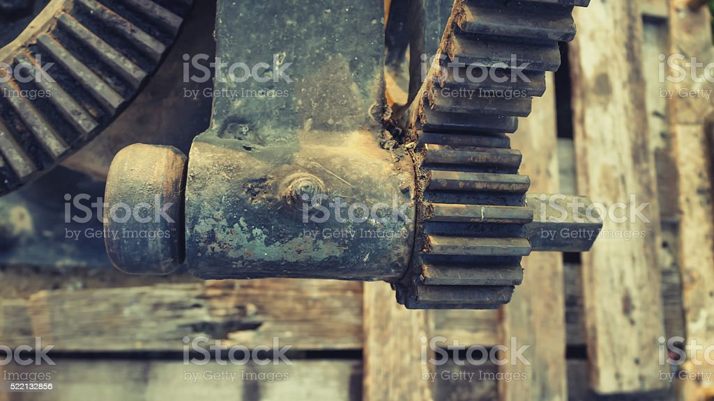 Part of rust old gears stock photo