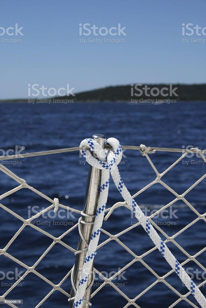 Parte de barcos à vela foto royalty-free
