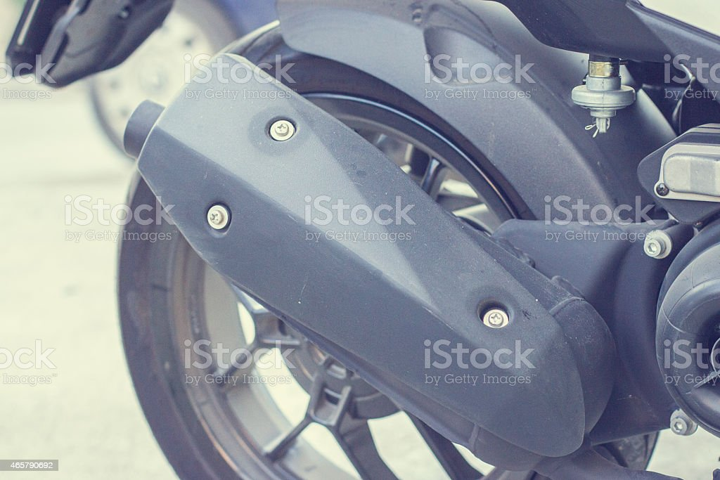 Part of scooter stock photo