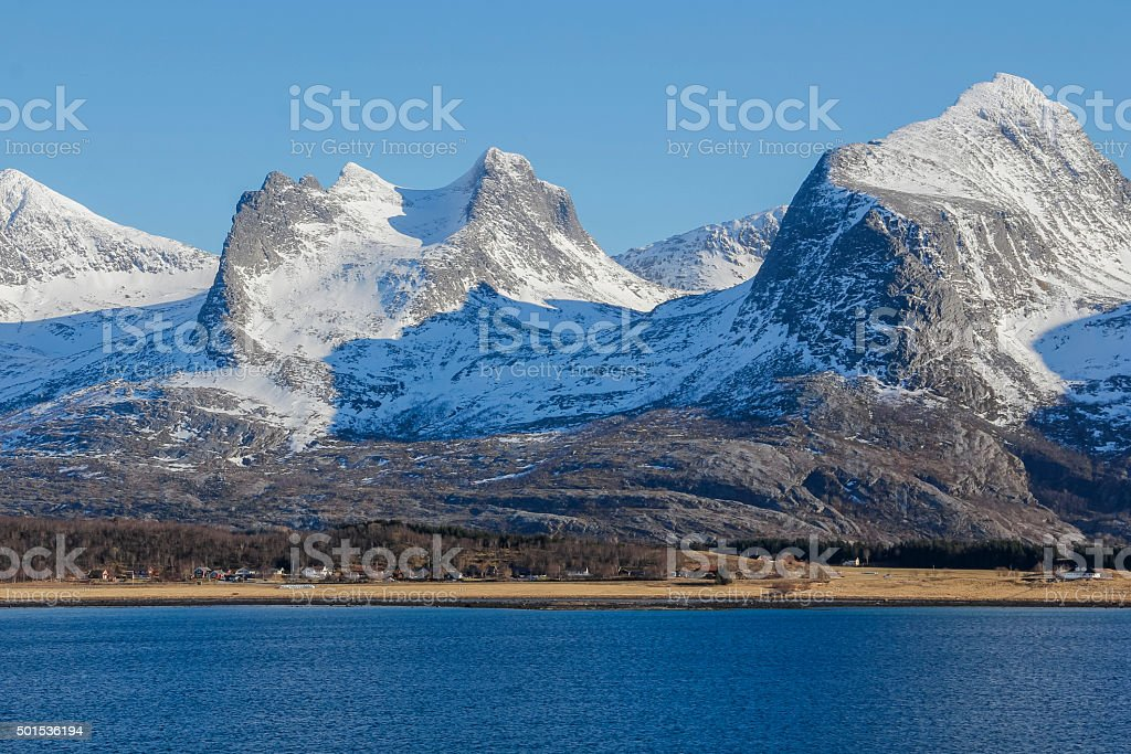 Part of Seven sisters mountain range stock photo