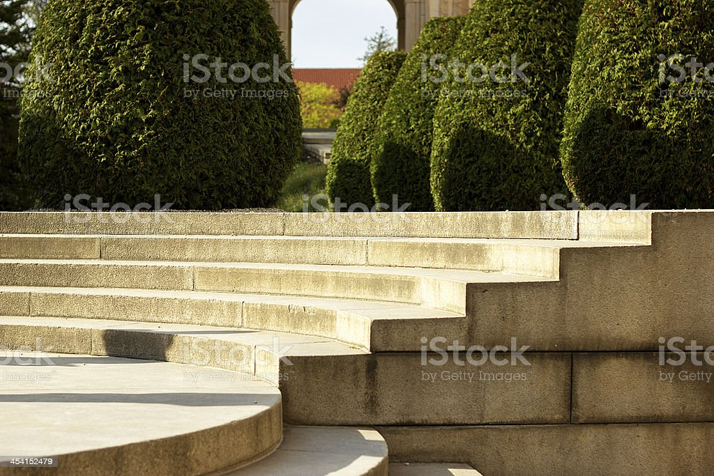 Part of stone stairs stock photo