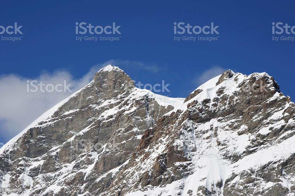 Part of Swiss Alps at Switzerland royalty-free stock photo
