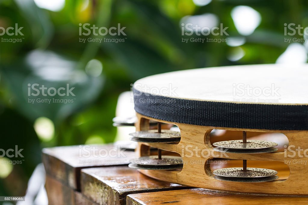part of tambourine stock photo