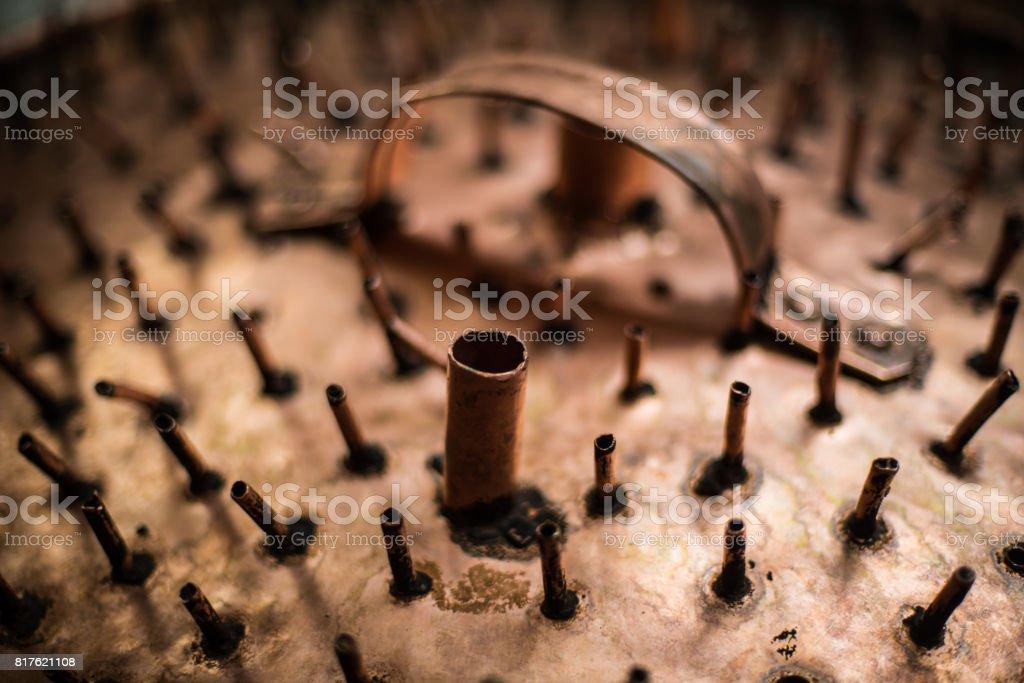 Parte del equipo de destilación de aguardiente, - foto de stock