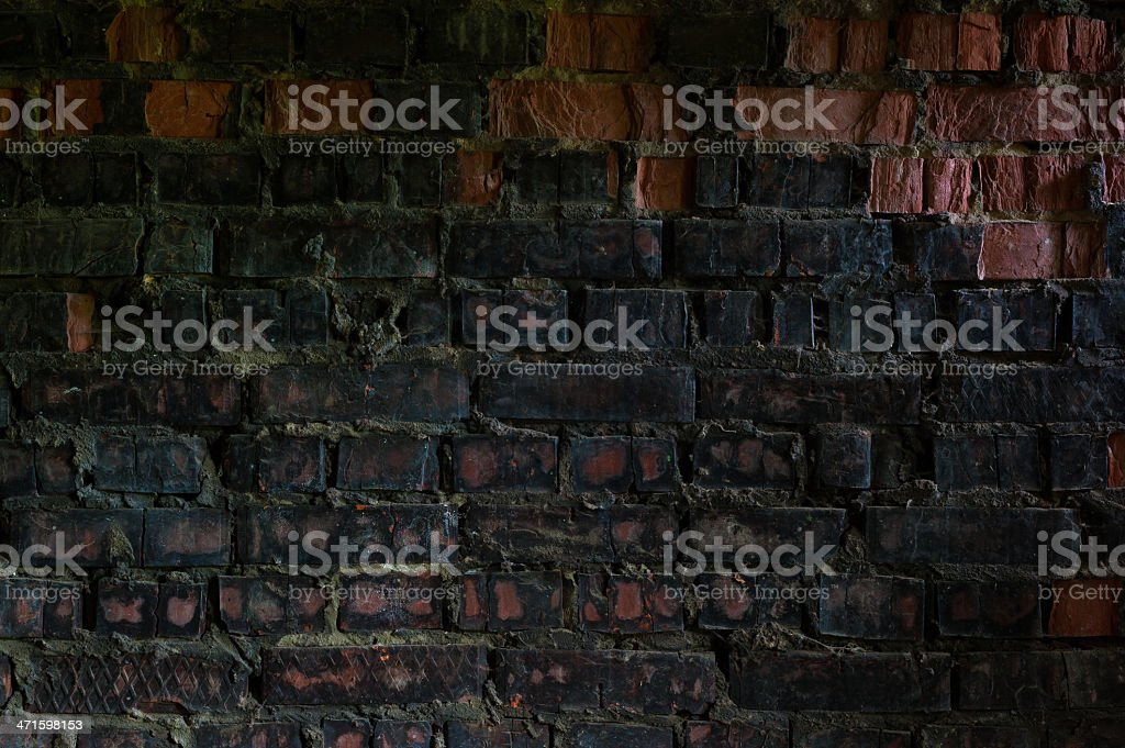 Part of the brick wall royalty-free stock photo