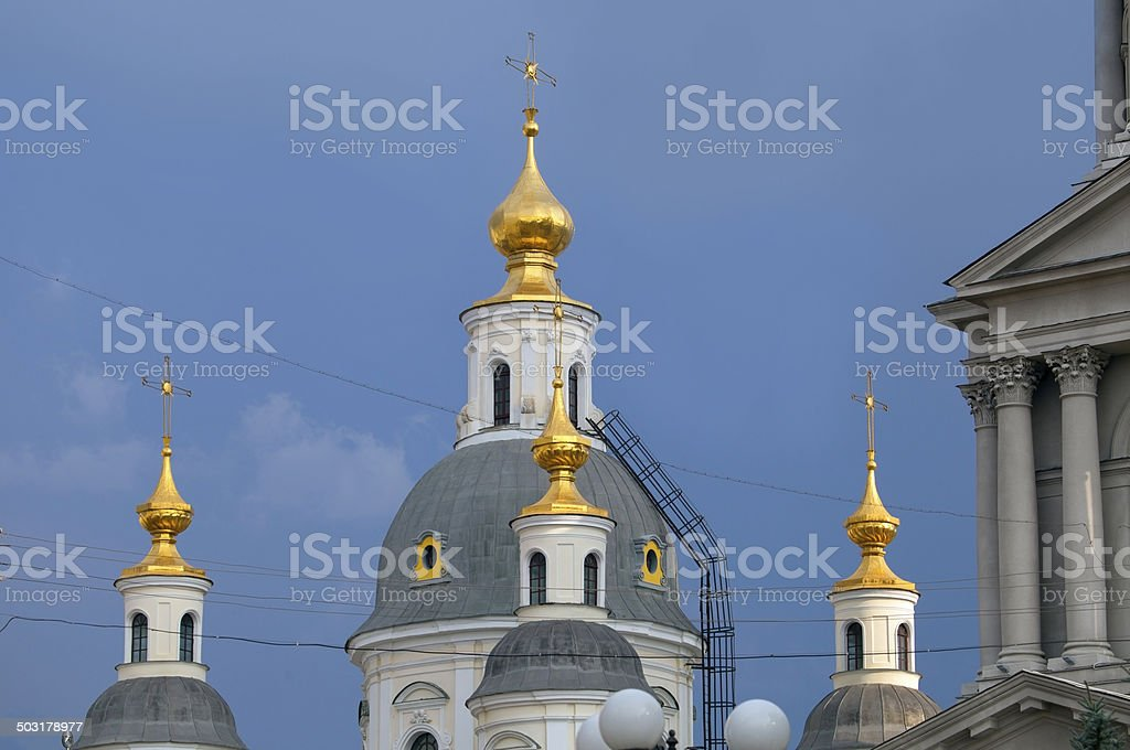 Part of the Cathedral in Kharkov. royalty-free stock photo