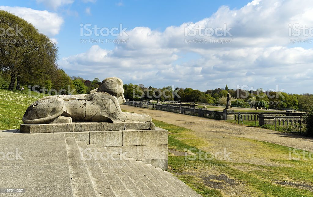 Part of the Crystal Palace ruins stock photo