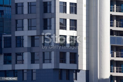 Part of the facade of the office building. Backgrounds