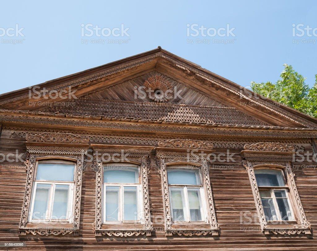 Liebenswert Russisches Holzhaus Das Beste Von Teil Der Fassade Des Alten Russischen In