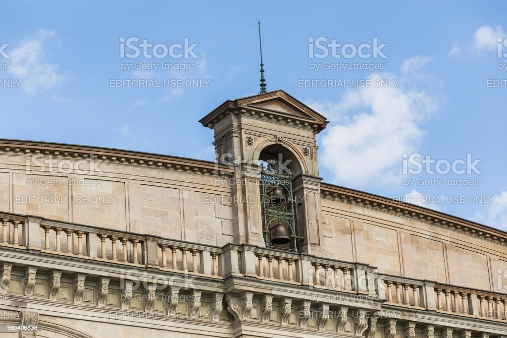 Part of the facade of the Zurich main railway station building royalty-free stock photo