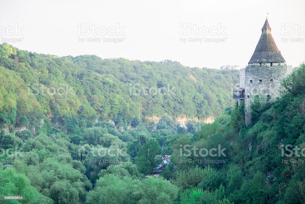Part of the fortress. above the canyon. royalty-free stock photo