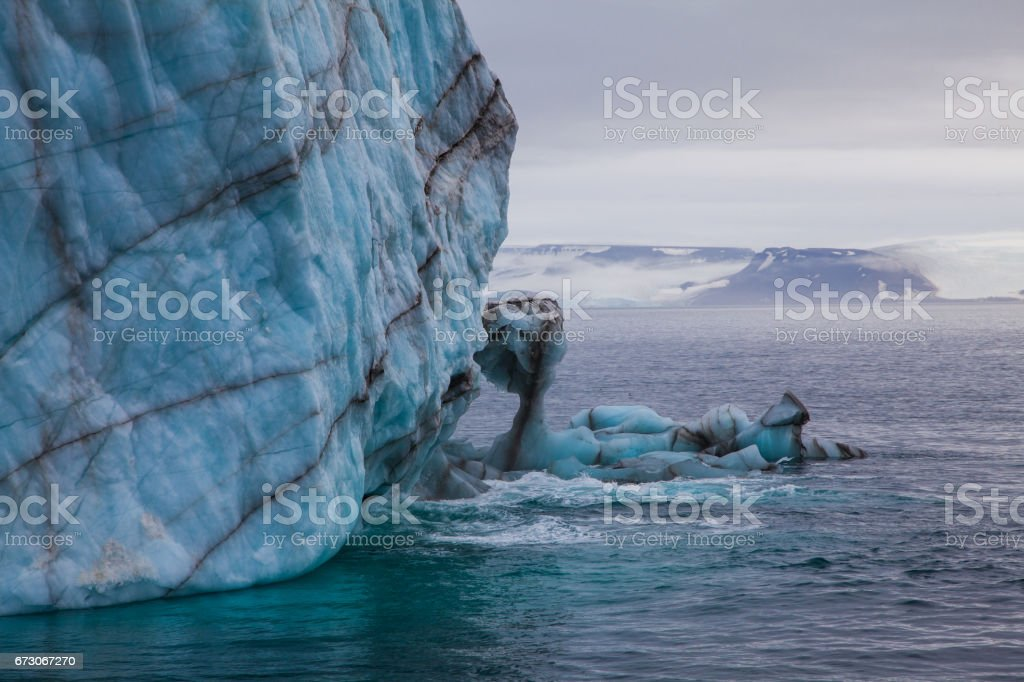 Part of the Glacier stock photo