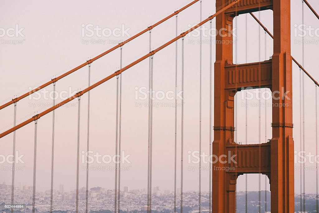 Part of the Golden Gate stock photo