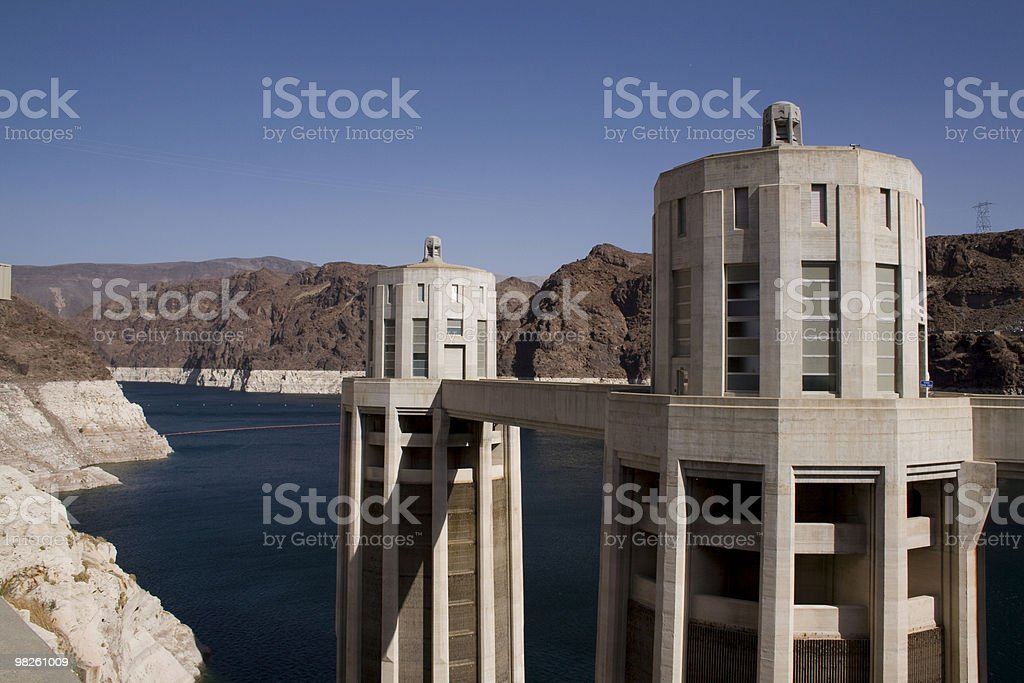 Part of the Hooverdam royalty-free stock photo
