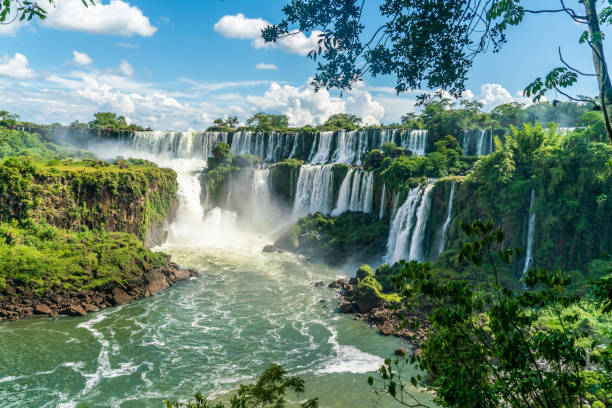 Part of The Iguazu Falls seen from the Argentinian National Park Part of The Iguazu Falls seen from the Argentinian National Park Argentina stock pictures, royalty-free photos & images