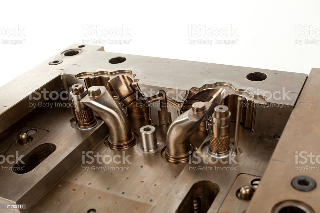 part of the metal mold stock photo