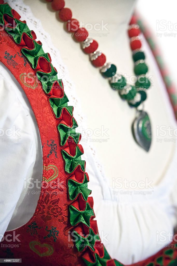 part of the national costume stock photo