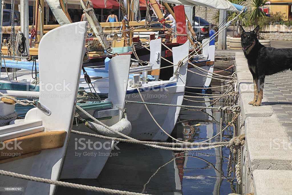 Part of the port in Betina royalty-free stock photo