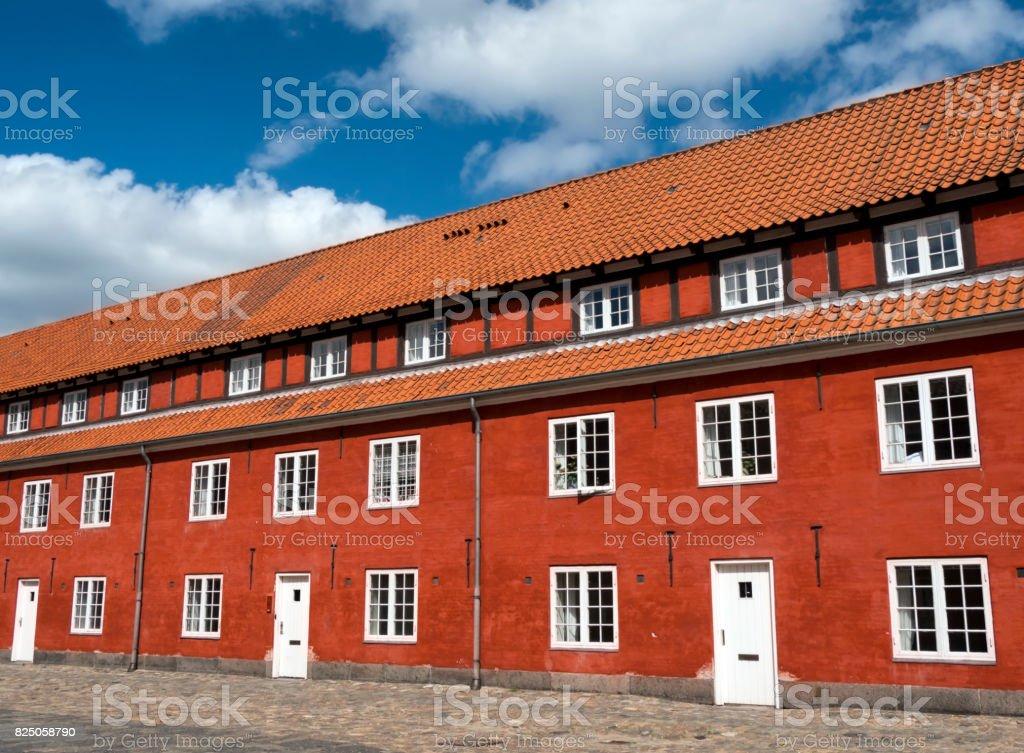 Part of The Rows in Kastellet, Copenhagen stock photo