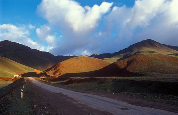 Part of the silk road (Tien Shan Mountains in Kyrgyztan)  silk road stock pictures, royalty-free photos & images