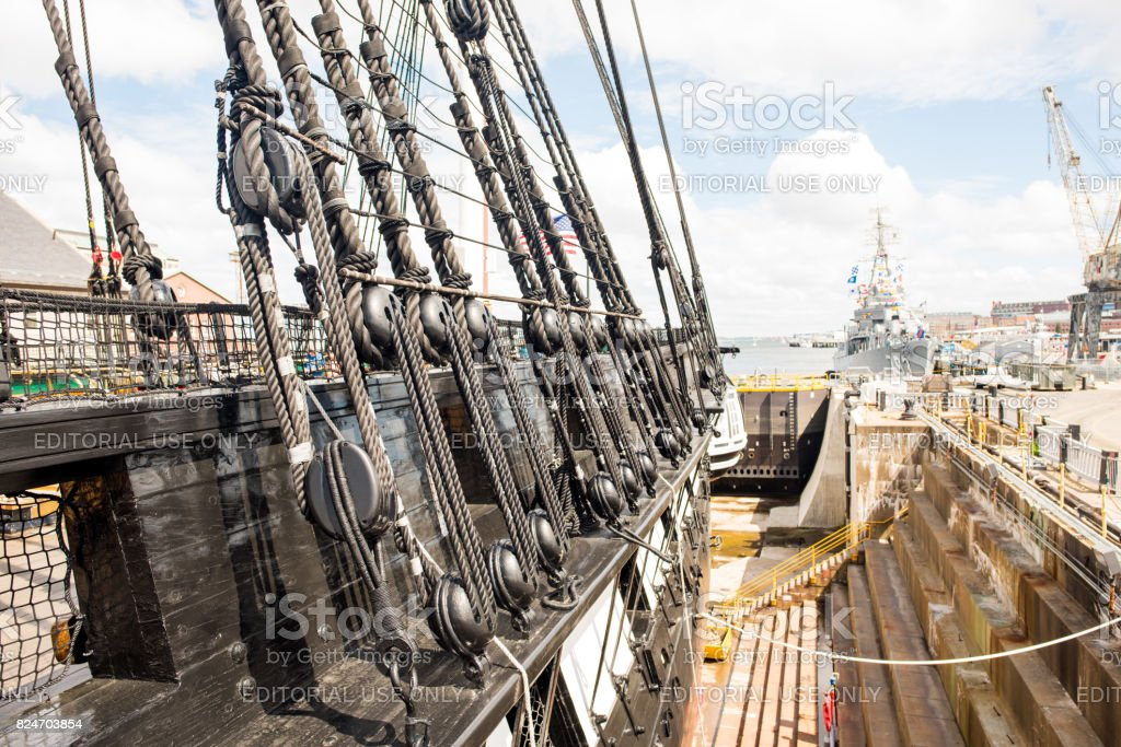 Part of the USS Constitution stock photo