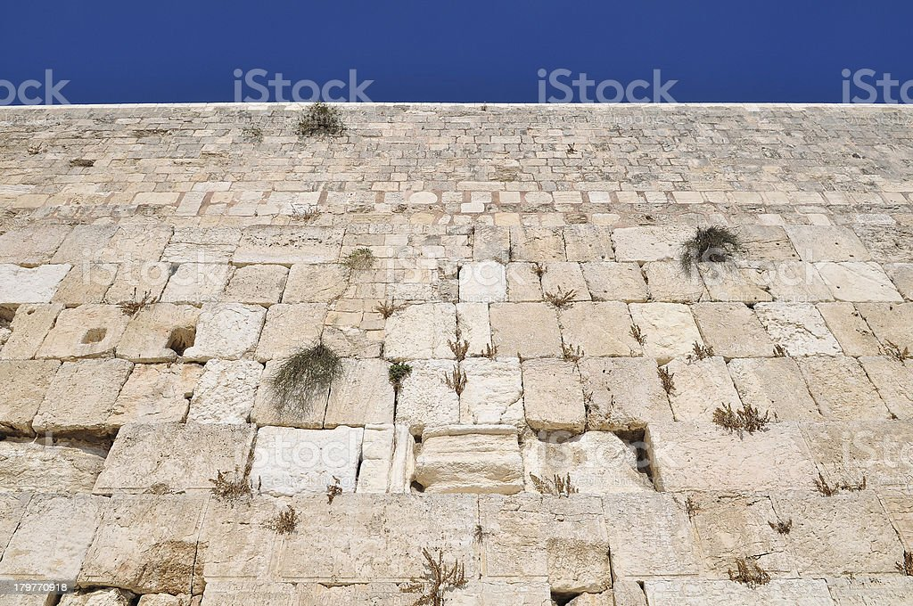 part of the Western Wall, Jerusalem Israel stock photo