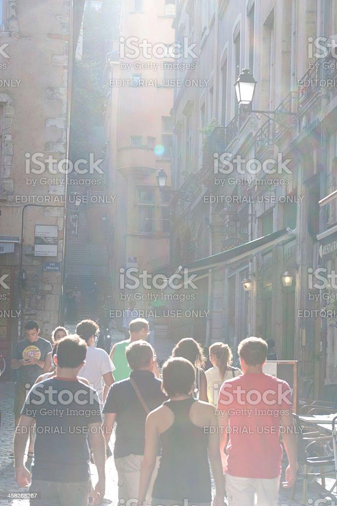 Part of Vieux Lyon royalty-free stock photo