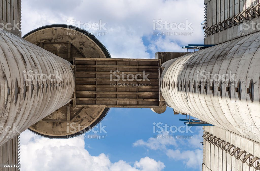 Part of western city gate of Belgrade 7 stock photo