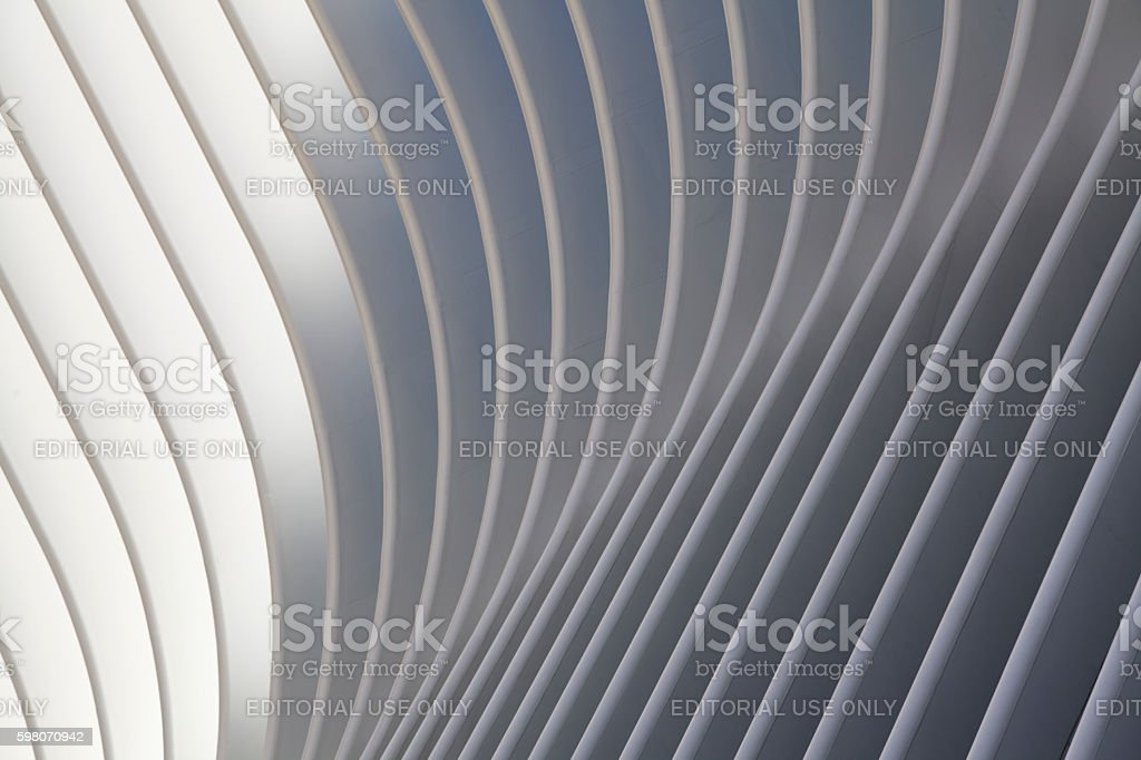 Part of World Trade Center Transportation Hub stock photo