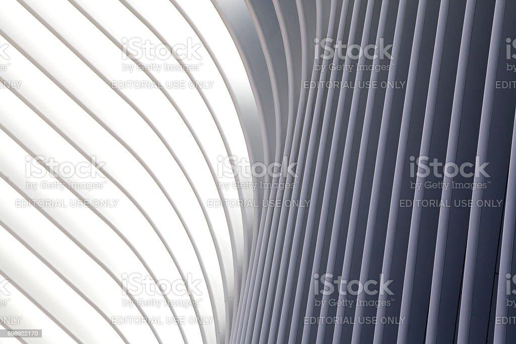 Part of World Trade Center Transportation Hub stock photo