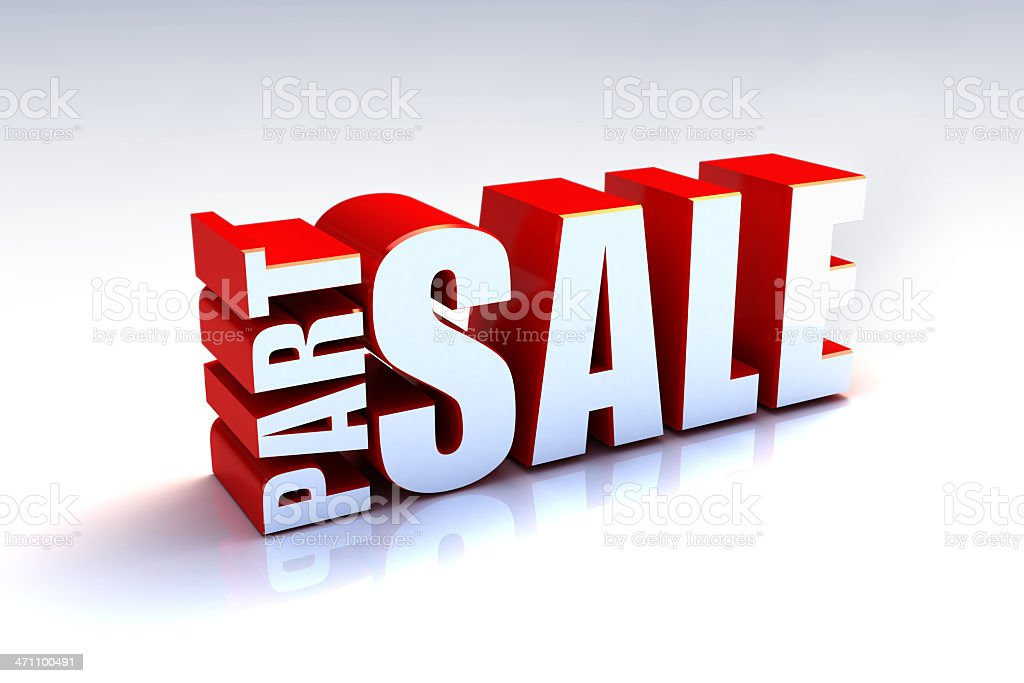 Part Sale royalty-free stock photo