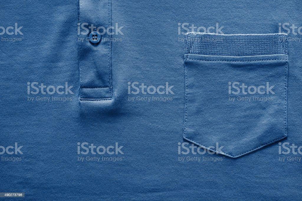 Parte camisa en primer plano de color azul oscuro. - foto de stock