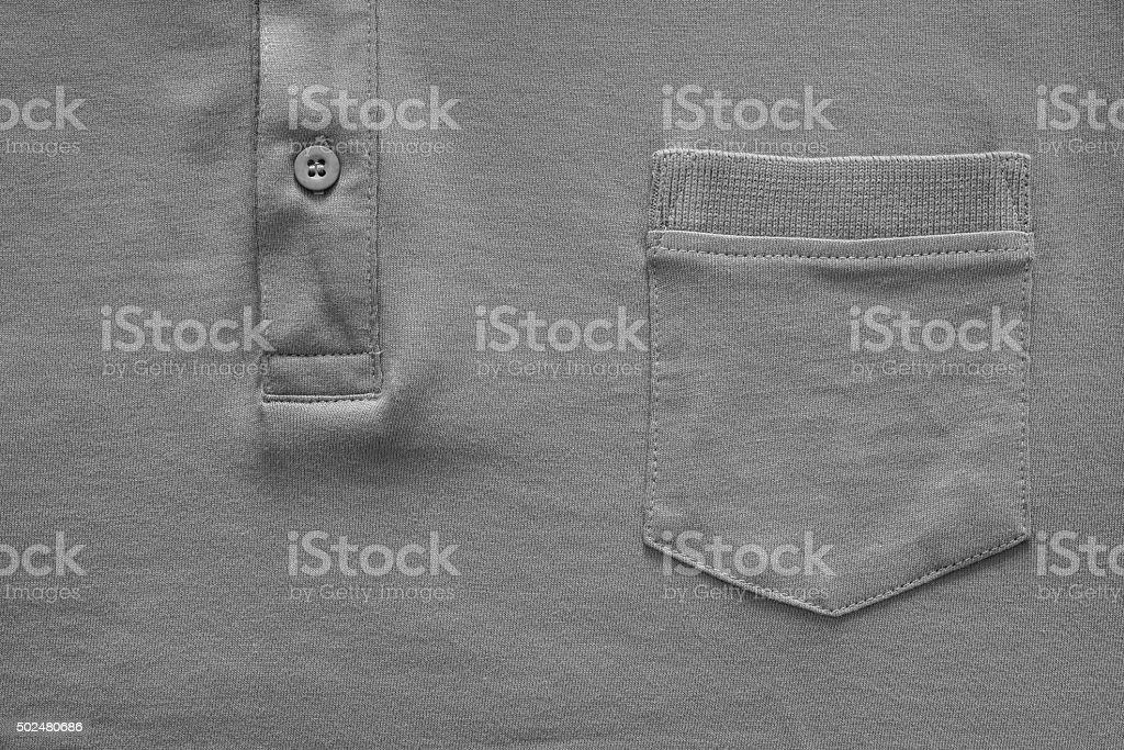 part shirt closeup of gray color stock photo