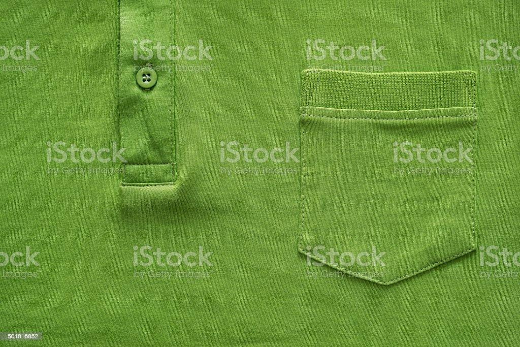 part shirt closeup of green color stock photo