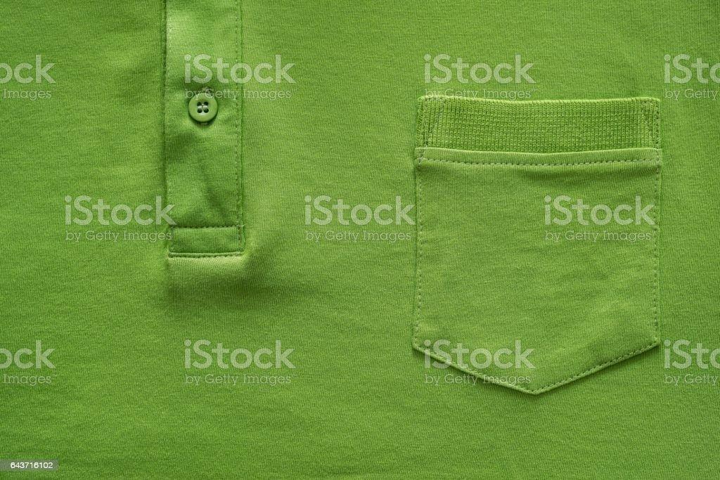Parte camisa en primer plano de color verde - foto de stock