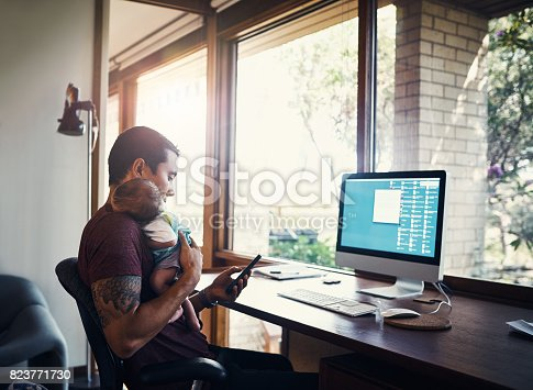 istock Part time worker, full time Dad 823771730