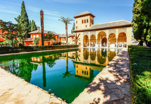 Partal Palace in La Alhambra,Granada (Andalusia), Spain GRANADA,SPAIN - OCTOBER 17,2012 : Partal Palace in La Alhambra,Granada (Andalusia), Spain palacios nazaries stock pictures, royalty-free photos & images