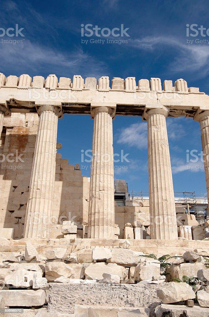 Parthenon, con vista a la Acrópolis foto de stock libre de derechos