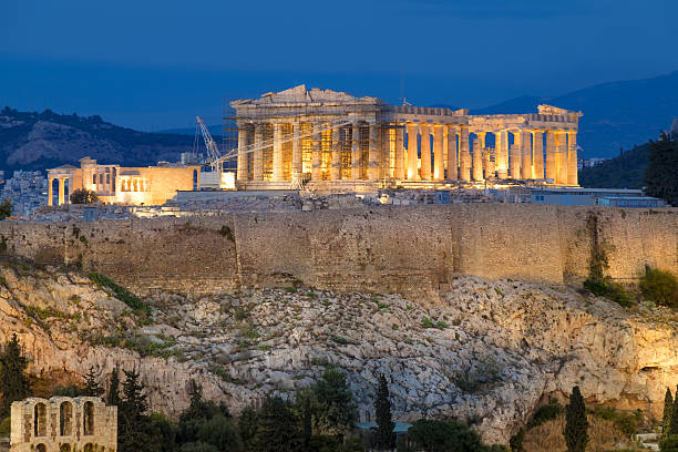 the construction of the acropolis of athens Other structures and buildings in ancient times there were several other buildings and structures built on the acropolis, though there are only fragments of them remaining today.