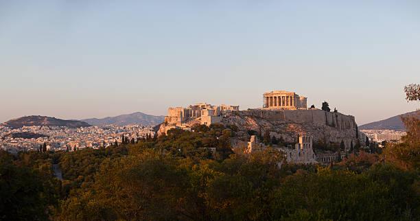 Parthenon at Acropolis Hill in Athens stock photo