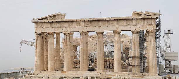Parthenon at Acropolis in Athen stock photo