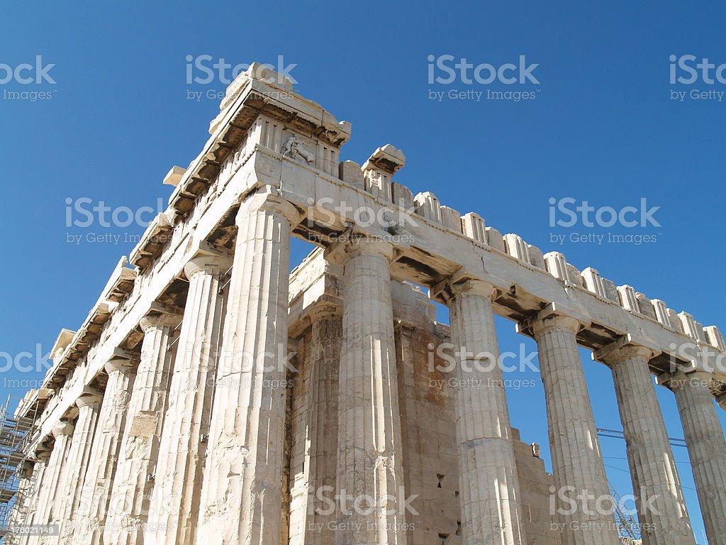 Parthenon at Athens, Greece royalty-free stock photo