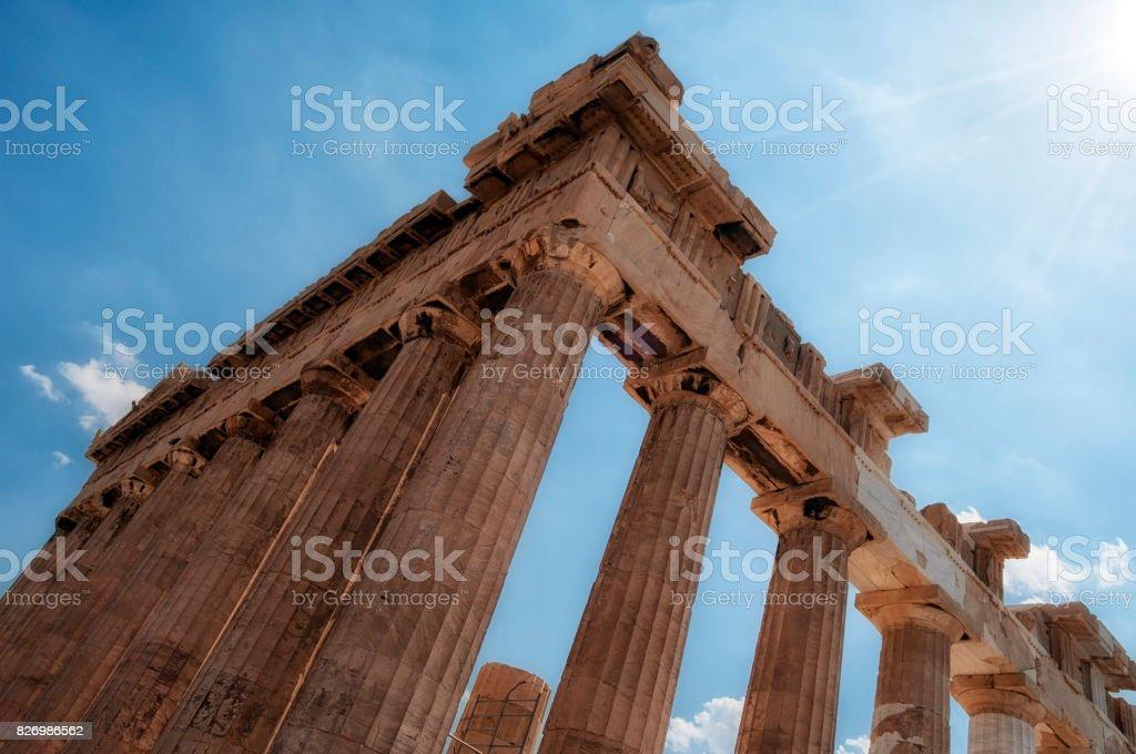 Parthenon at the Acropolis stock photo
