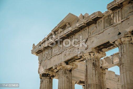 Parthenon building detail. Athens, Greece